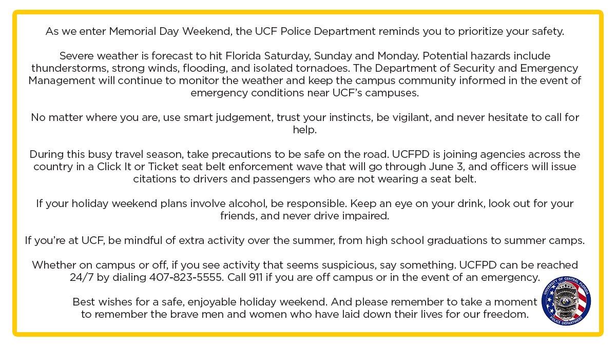 UCF Police Dept  on Twitter: