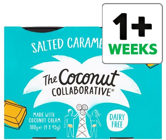 The Coconut Collaborative, salted caramel: 1 x45g pot = 0.9g protein (1 PKU exchange. Found in @Tesco<br>http://pic.twitter.com/lQYgEb42FP