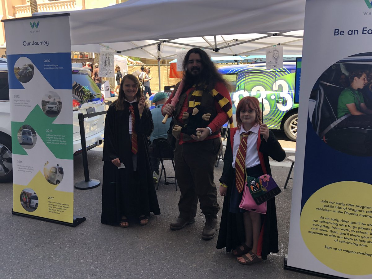 @Hagard_Hagrid Thanks for stopping by our booth at Phoenix Comic Fest! #PCFWaymo #PCF18