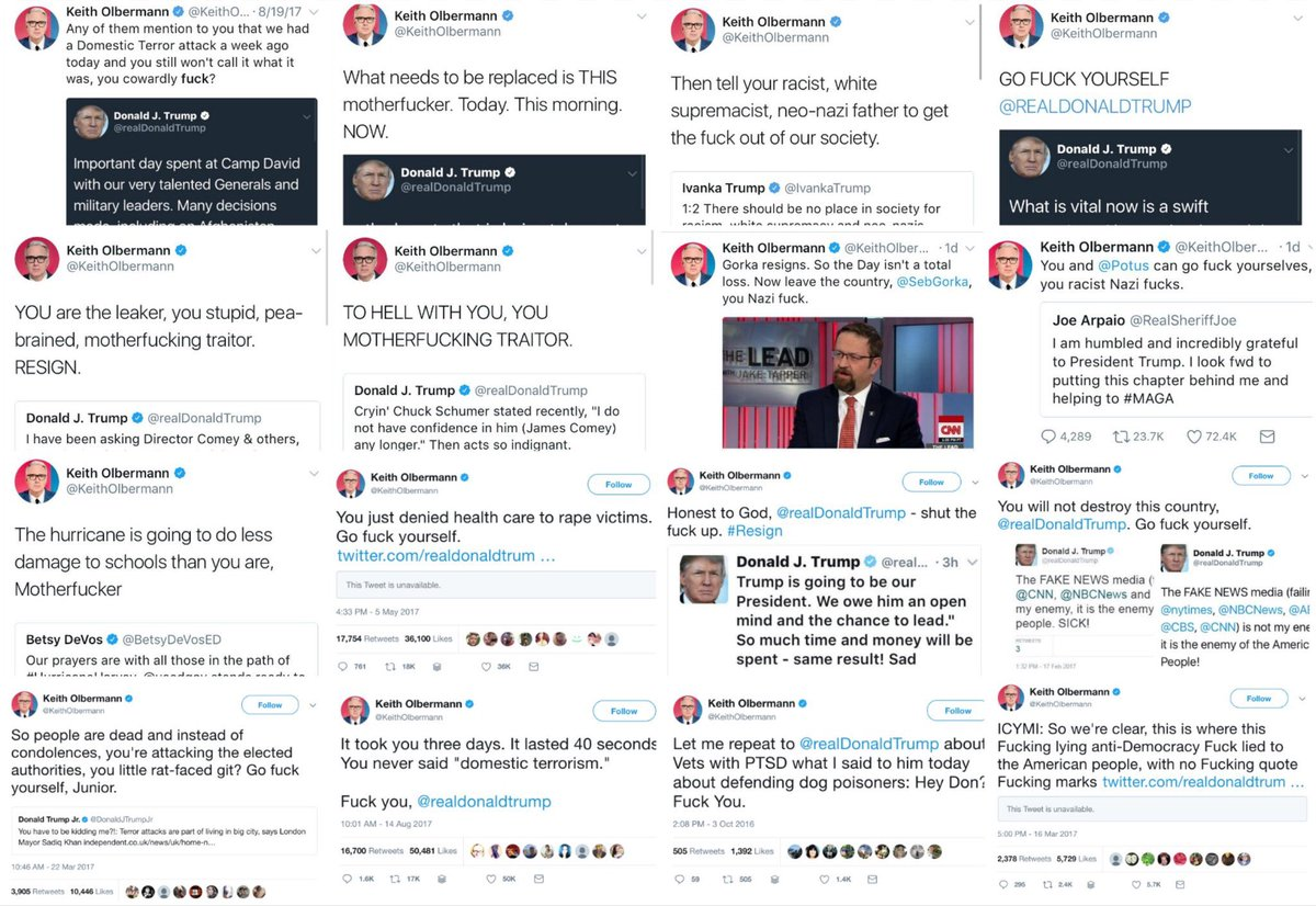 Nick On Twitter Keith Olbermann Back At Espn Espn Doubling Down On Stupidity Espn has benched anchor keith olbermann from hosting his show for the rest of the week following comments he made on twitter regarding penn state university. twitter