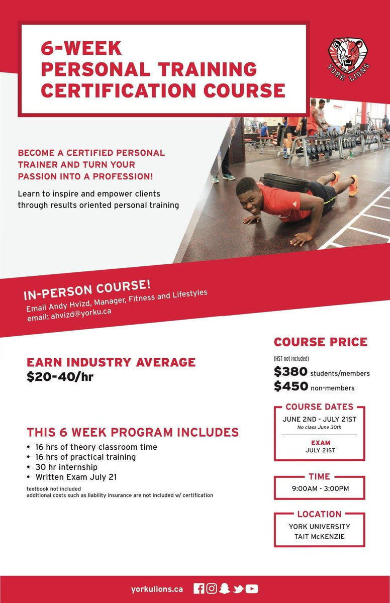 Yorkurecreation On Twitter Summer Wits Personal Training