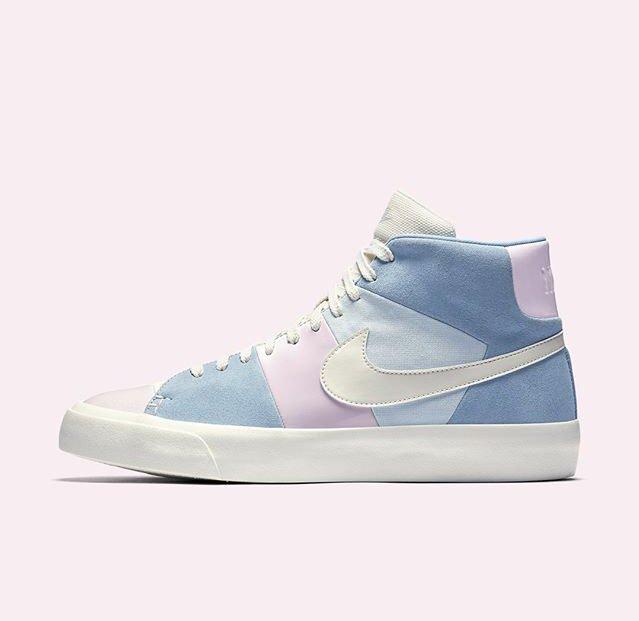 "1e77e1d2e824 Skye s Sneaks of the Week  1. Kyrie 4 ""Atomic Pink"" 2. Nike Blazer Royal   Spring Patchwork pic.twitter.com nqQGNSCxEs"