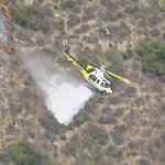 Image for the Tweet beginning: BRUSH FIRE 5/25/18 @LACoFireAirOps is