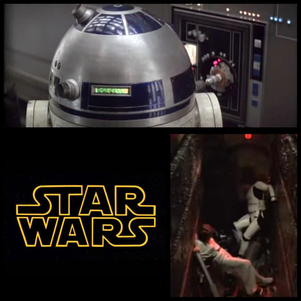1977: The hacker space epic &quot;Star Wars&quot; was released to little fanfare. It has since become a cult classic. It&#39;s the tale of the droid R2-D2&#39;s hacking of the Death Star computer systems after his friends foolishly dove into a trash compactor...and other shenanigans. <br>http://pic.twitter.com/2bIgCDzlMf