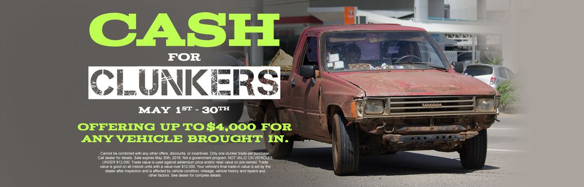 Cash For Clunkers >> Bob Tyler Toyota On Twitter Don T Forget About Our Cash