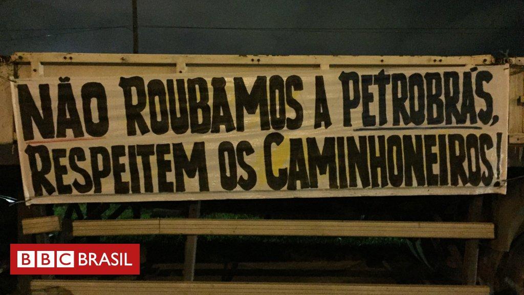 """""""Agora a sociedade está vendo o valor do caminhoneiro"""", dizem manifestantes no Rio https://t.co/LByhIFjfhF"""