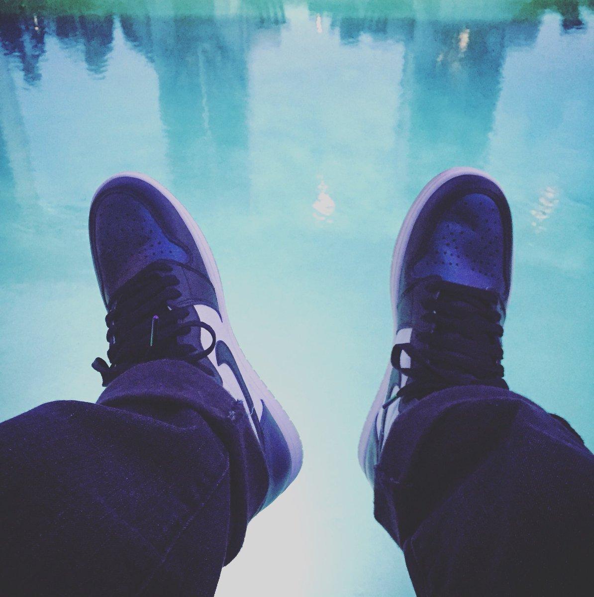 Floatin. #FreshKickFriday I'm the highly underrated #AJ1 Chameleon All-Stars. #Sneakerhead #Perspective