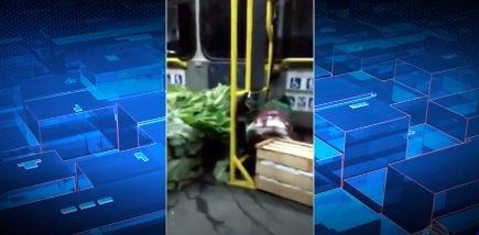 VÍDEO: manifestantes retiram carga de verdura de ônibus no RJ https://t.co/dpYZbwLCow