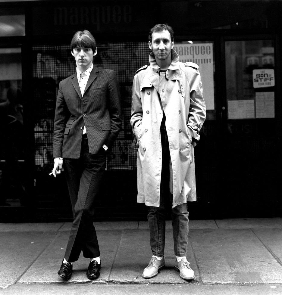 Paul Weller is 60. Seen here sharing a joke with Pete Townshend.