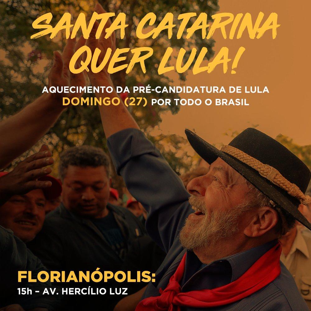 Região Sul quer @LulapeloBrasil ! Aquecimento da Pré-candidatura de Lula, por Todo o Brasil! Compareça ao ato em sua cidade!  👉https://t.co/0eWKixsAKa