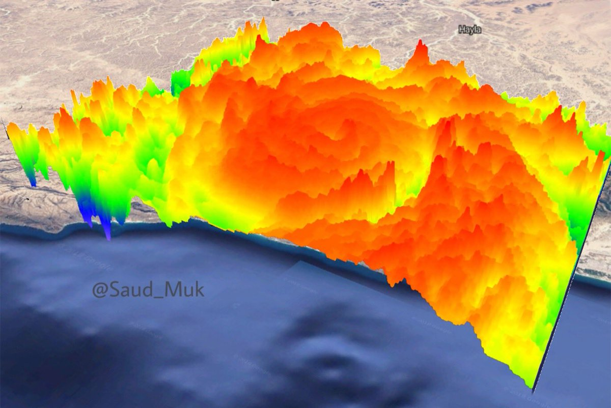 #CycloneMekunu  - Cross sectional view 3D modeling for clouds hight. (Red is the highest). #Mekunu<br>http://pic.twitter.com/dW4jZDDKOO