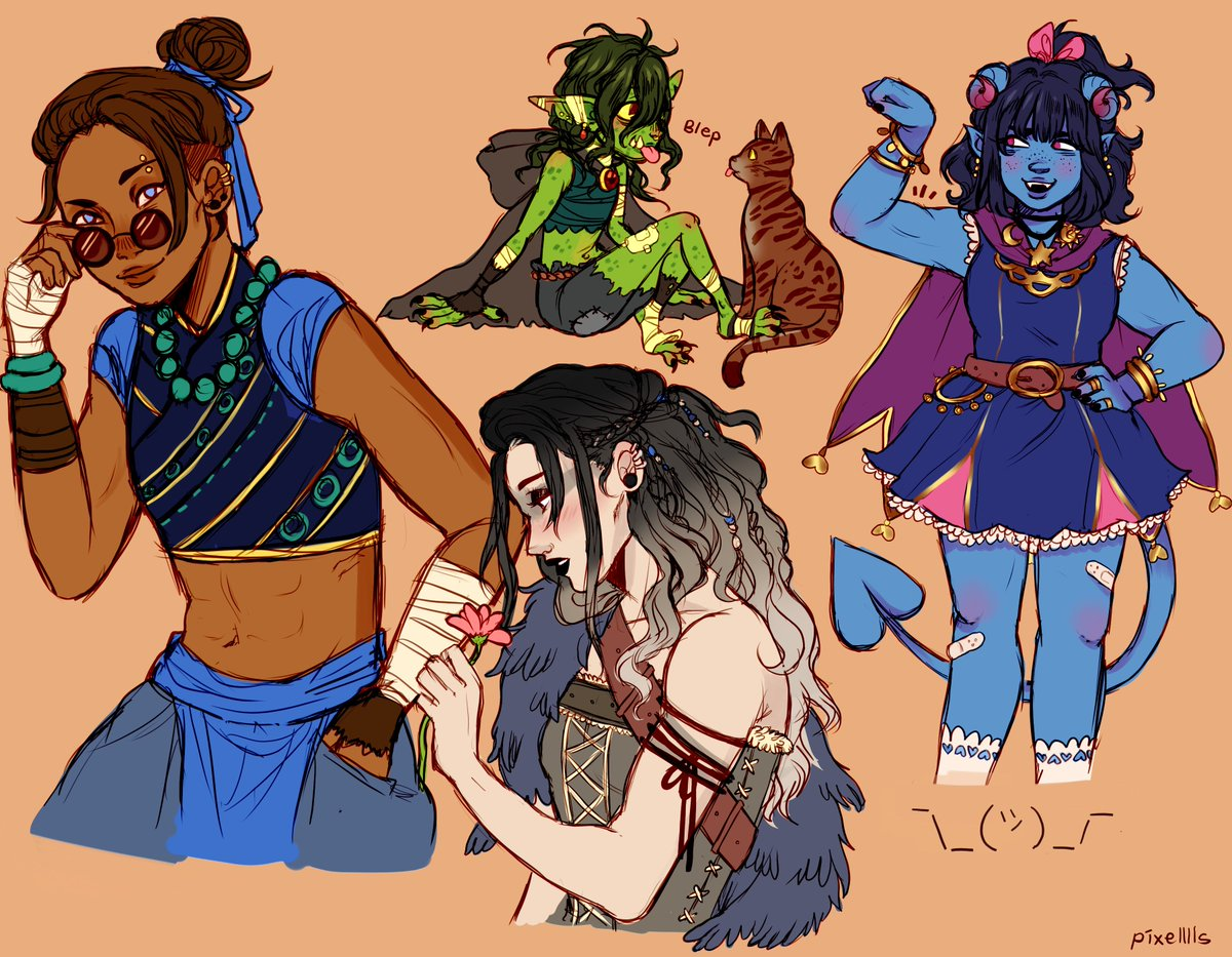 some lazy sketches of some gr8 kids! #criticalrole   I have a stats exam today I really shouldn&#39;t be drawing lol<br>http://pic.twitter.com/FtFzYzB2lh