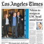 Image for the Tweet beginning: Preview of Saturday's @latimes Page