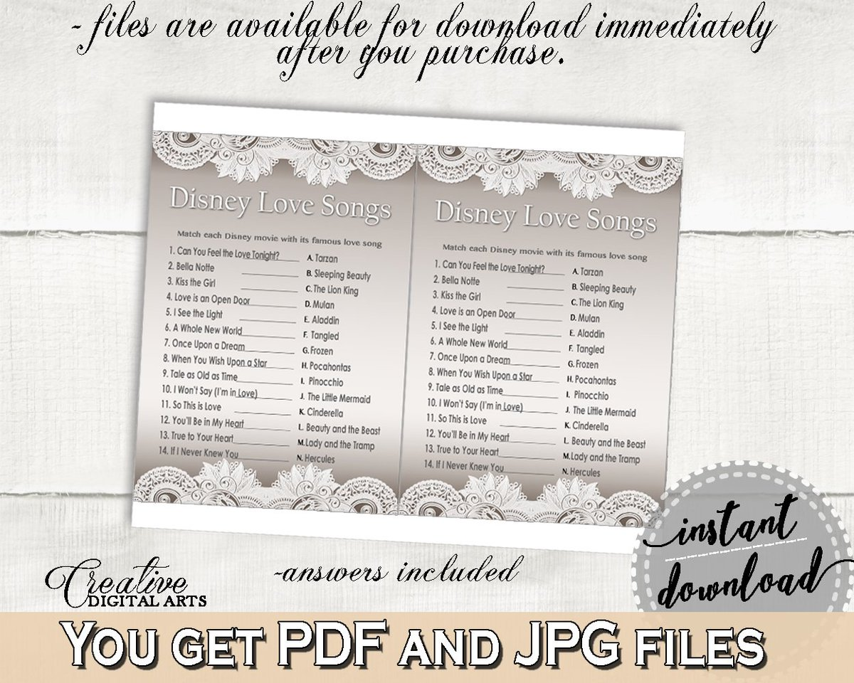 funpartyonetsyphilly on twitter bridal shower disney love songs game in traditional lace theme httpstcod3ldz57ne4 bride wedding