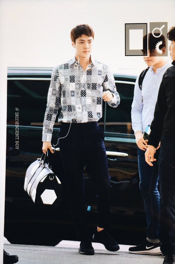 Sehun is the flying to Paris to attend Louis Vuitton Cruise Show. LV's best dressed man is about to make his comeback in fashion industry. Model Sehun, I can't wait to see the impact you will create in fashion industry this time. Rise and shine my love. #SEHUN #세훈 @weareoneEXO<br>http://pic.twitter.com/QQoyU1Mggk