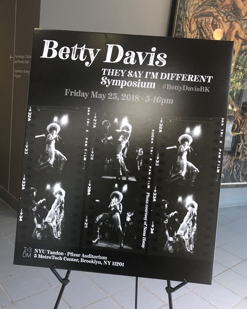 Waited so long for the film to release #BettyDavisBK thank you @nastygalmovie @polishedsolid @kwamicoleman @ejlordi @StalkinHeads @fredaraMareva Donate to: @GirlsRockPhilly what a fantastic symposium #theysayimdifferent the special footage at the end was poignant. #weloveyoubetty