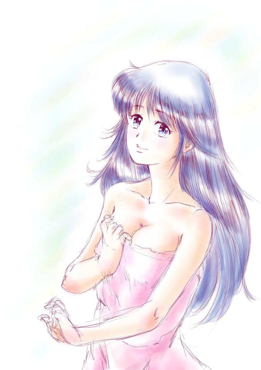 昨日25日は #鮎川まどか生誕祭 だったんですね。今頃気付く(^^; 例によって髪形以外はまったくの自分絵ですが、オマージュ♪