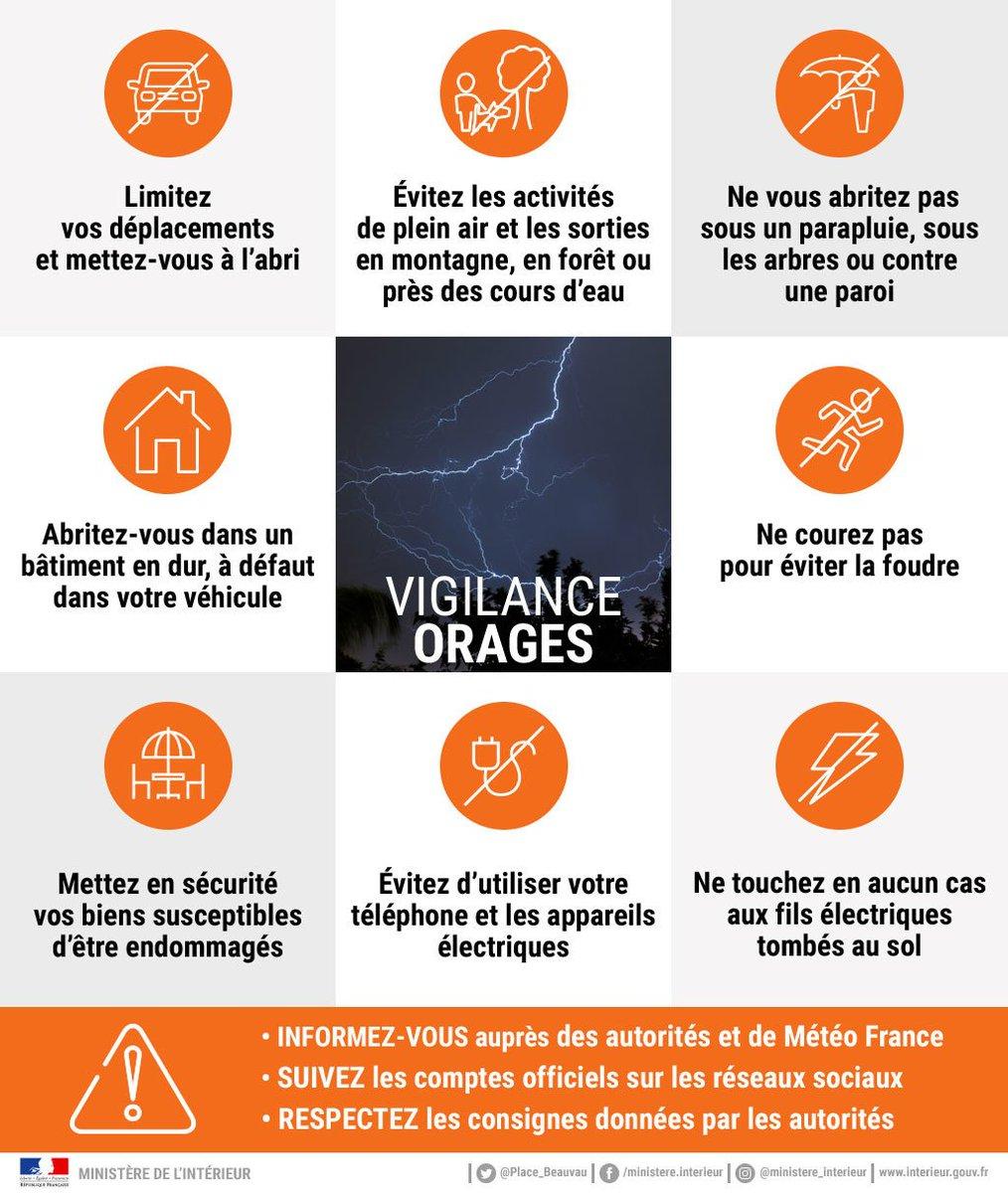 ⛈️ Un épisode orageux important se met en place sur la façade Atlantique, du pays Basque à la Nouvelle-Aquitaine. Restez vigilants et évitez d'entamer de longues activités de plein air. #VigilanceOrange #Orages