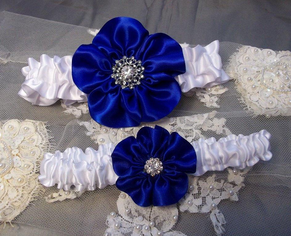 White Heart Garter For Wedding Bridal Bridesmaid