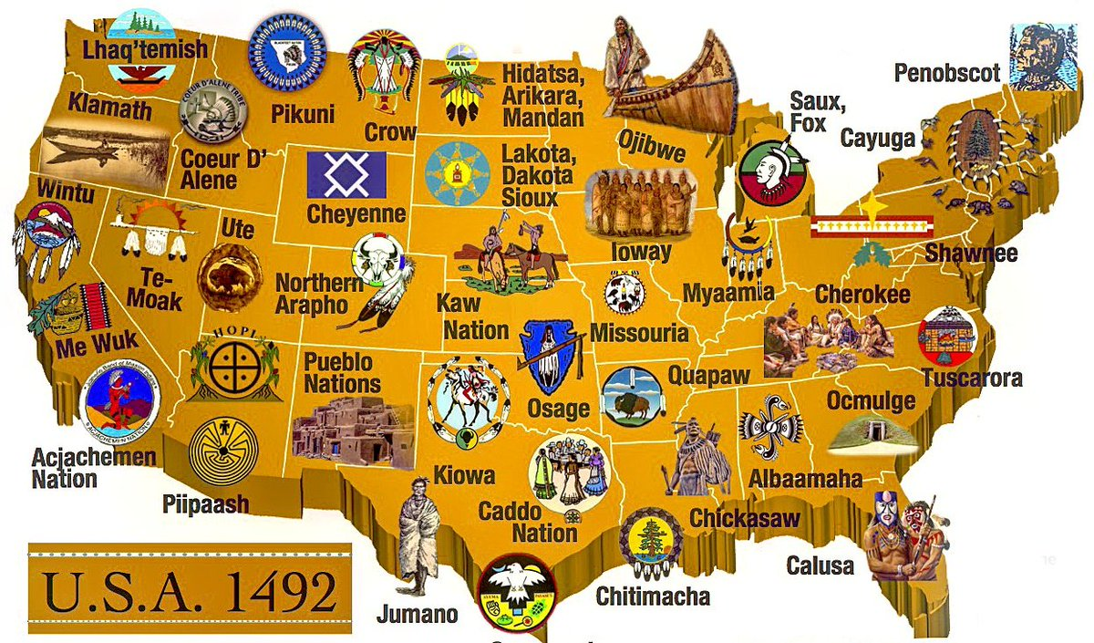 """Denis Ivan Perez-Bravo on Twitter: """"The Native Americans tamed this land.  Whites colonized it. Period. #colonizers #genocide #NativeAmerican  #AncestorsLegacy. (Partial map)… https://t.co/S8wbMAkfOq"""""""