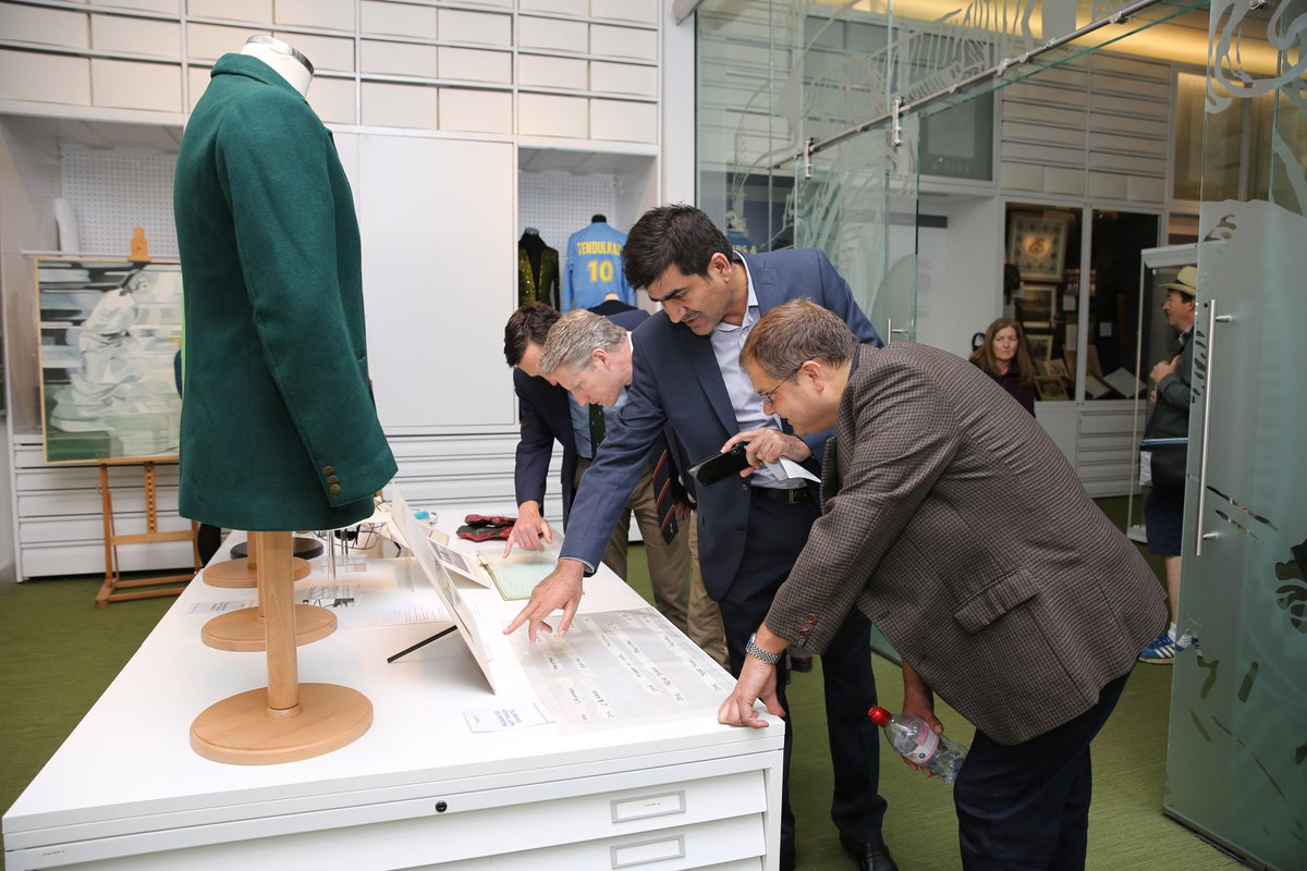 At Lord's today and want to find something else to do?  The MCC Museum is open and free for ticket-holders to have a browse!  #LoveLords #ENGvPAK