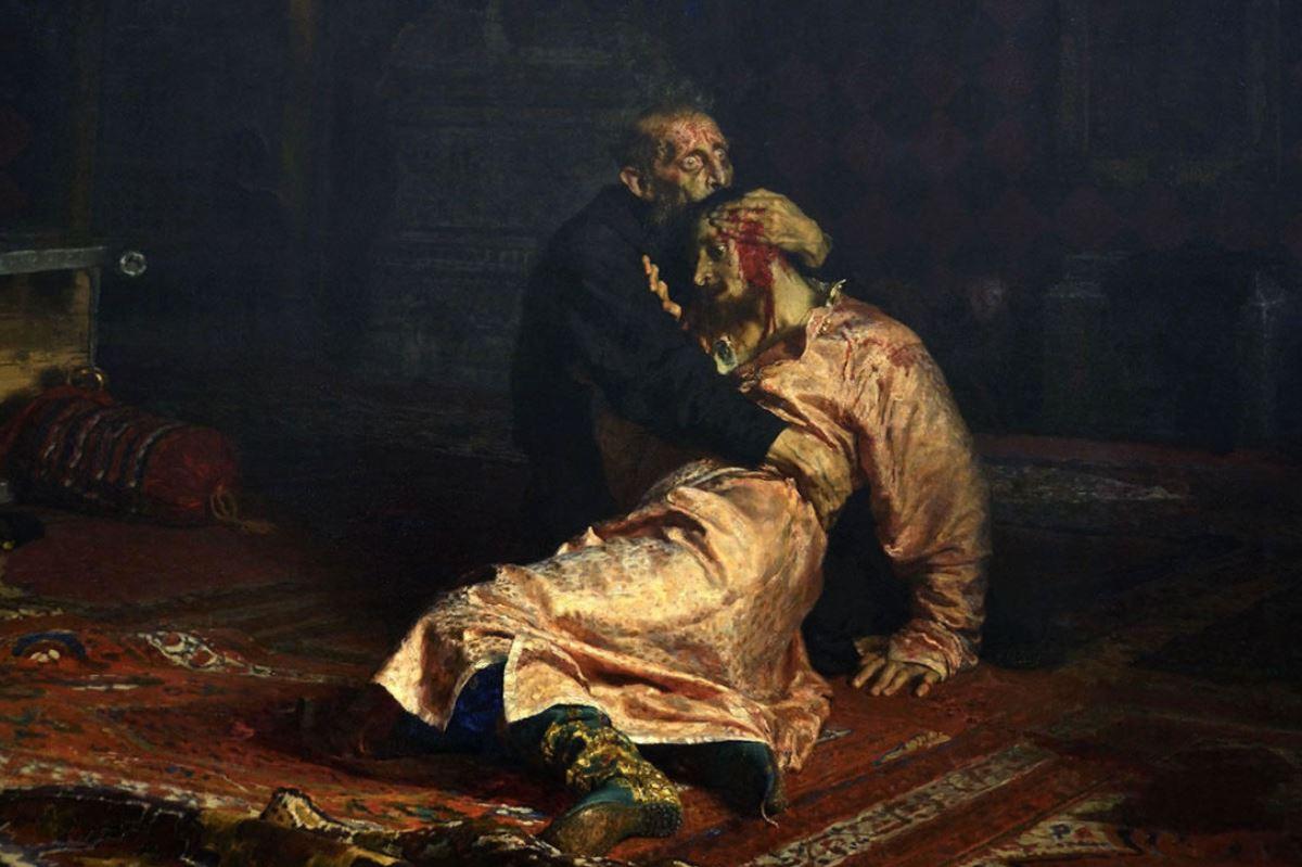 Иван грозный все картинки как он убил сына