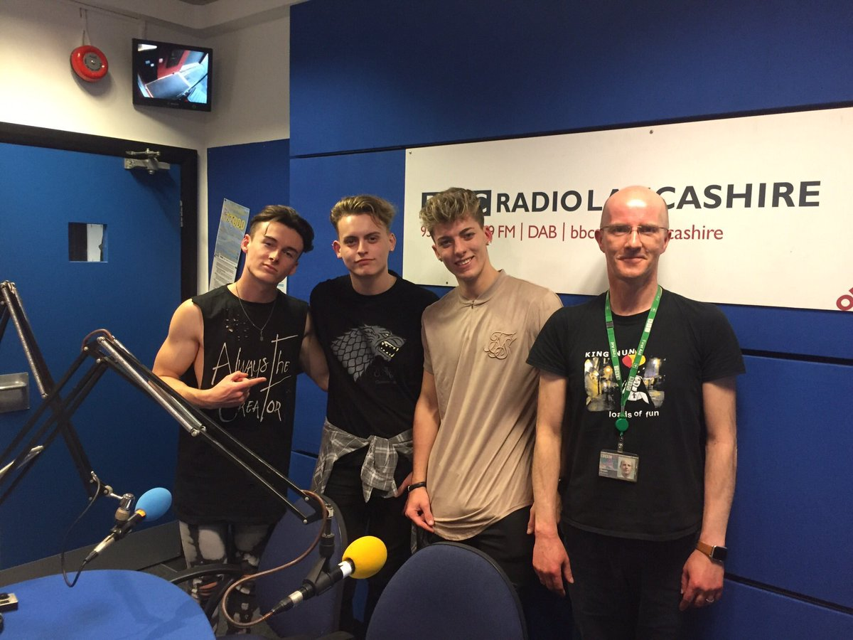 We are dropping into BBC Radio Lancashire later today to chat with Sean McGinty about our #NoRegrets EP, tour and more   If you don't have any plans come and join us in Blackburn (opposite the cathedral) from 6/6:30pm today   The show is live from 8pm   <br>http://pic.twitter.com/43tVM3ZrTs