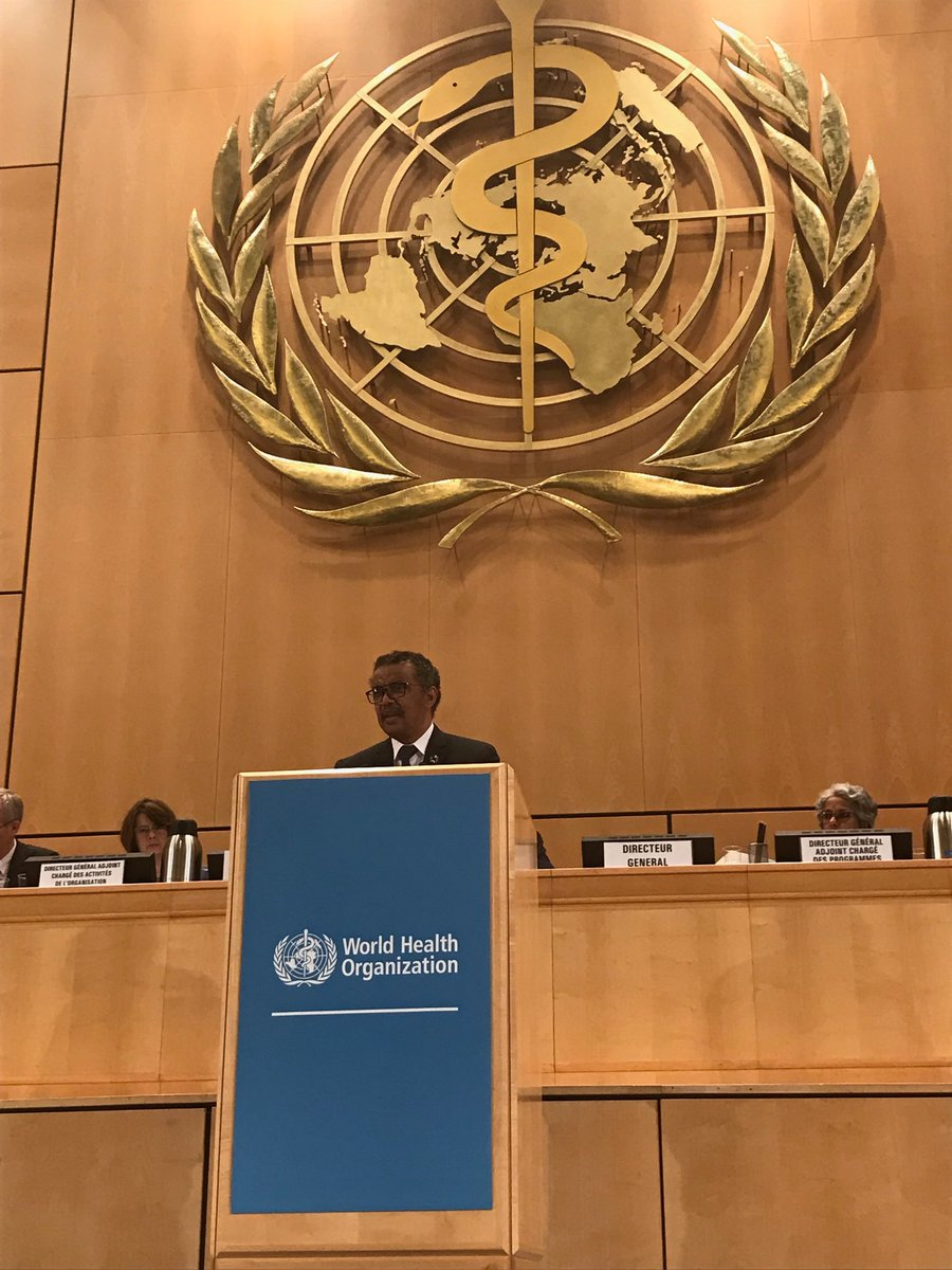 """""""Sometimes the challenges of the world can be overwhelming ... but we choose not to be overwhelmed"""" says @DrTedros https://t.co/eSesgKfIdv"""