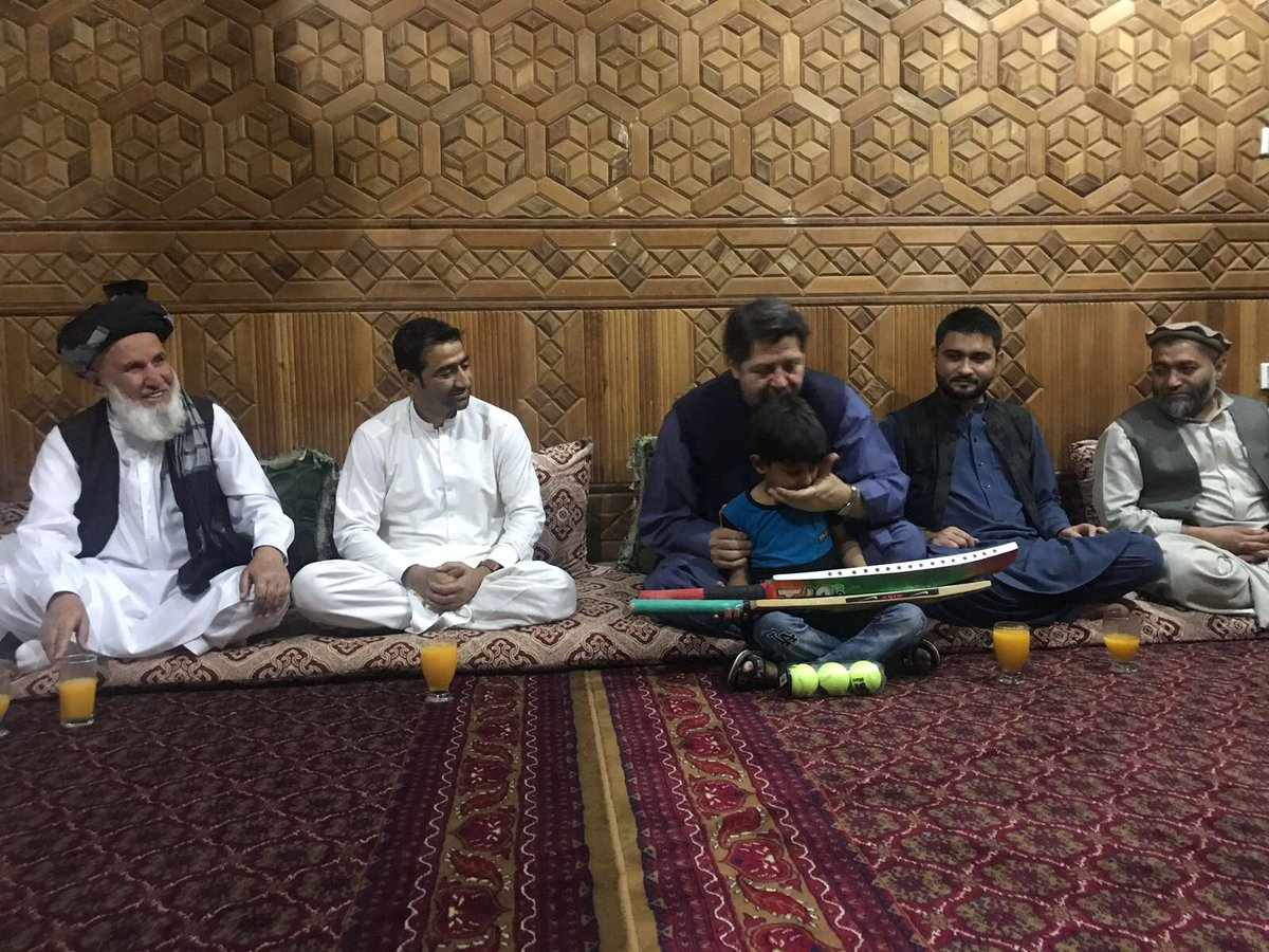 In Jalalabad to share the pain of families who lost loved ones in last week's terrorist attack on the cricket ground. Heart broken to meet bright kids of one of the victims, Hedayatullah Zaheer.