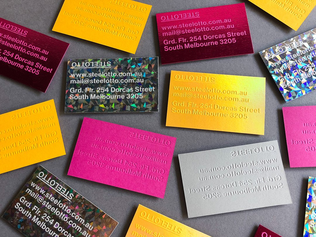 Colorplan On Twitter Foil Stamped Business Cards For Steelotto In
