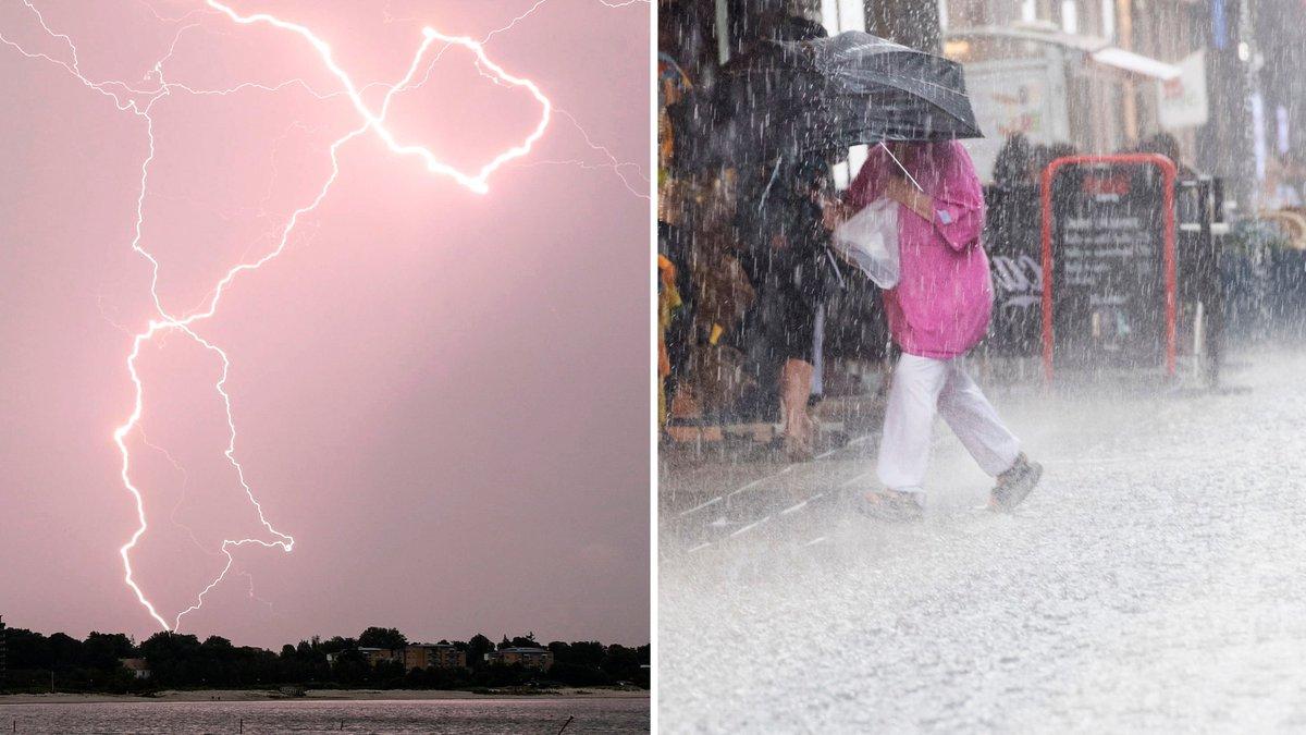 Varning for skyfall och aska