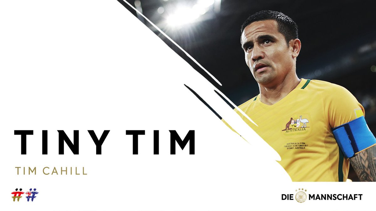 @Socceroos 👀 @Socceroos 🇦🇺 ⚽ Group C 🇫🇷🇵🇪🇩🇰 ⭐ @Tim_Cahill ⭐ Small man for the big occasion 🥊 How far can Australia go at Russia 2018? 🤔 #DieMannschaft #WorldCup #ZSMMN