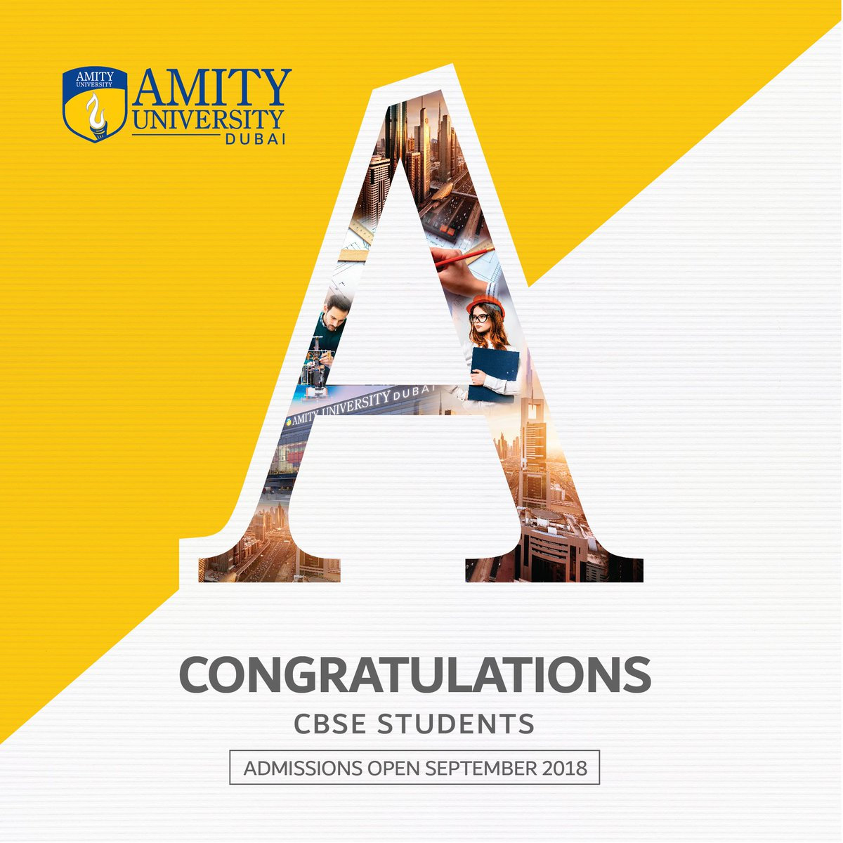 68d783f99de01a Take your next step to success with  AmityDubai!  Admissions Open for  September 2018!  Allthingsamity  CBSEResult2018   Congratulationspic.twitter.com  ...