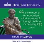 [CALENDAR] #DailyMotivation from Aristotle. #HPU365