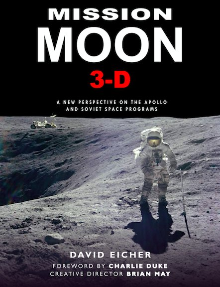 Misson Moon coming soon!  First glimpse of front cover.  #BrianMay #DavidEicher #CharlieDuke #BuzzAldrin #NeilArmstrong #50Years #FirstMoonLanding #Apollo11 #3D #stereoscopic<br>http://pic.twitter.com/2LxOAIimwg
