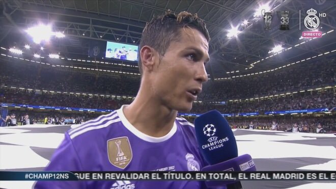 Full Time: Real Madrid 5-1 Liverpool Reporter: Cristiano another fine performance with a hat trick to go with it in the Champions League Final against this Liverpool team, how do you feel? Cristiano: Firstly Id like to dedicate this win to all of Manchester United SIUUUUUU