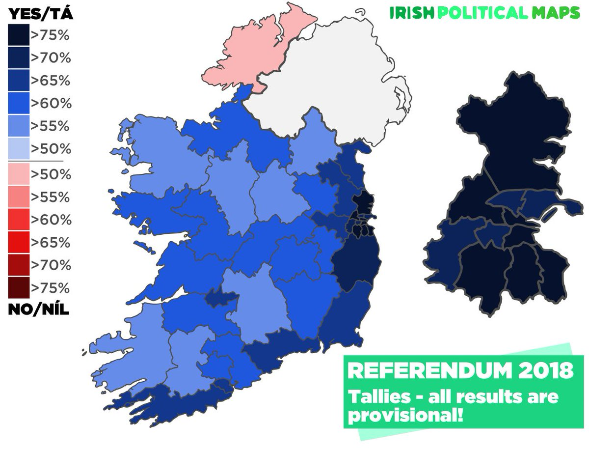 Irish Political Maps On Twitter The Map On The Left Shows How
