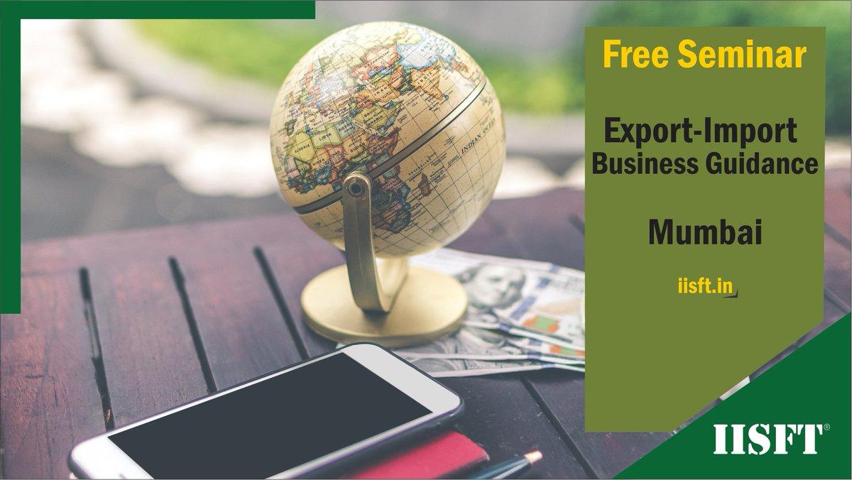 """Free Seminar in #Mumbai """"#Export-#Import #Business Guidance"""" Register:  https://t.co/rfjr4eXeFZ  For more details https://t.co/z92TCGylQF or call 9033756583  #IISFT #Export #Import #ForeignTradre #InternationalBusiness #Mumbai #Maharashtra https://t.co/h8GJA1fAwn"""