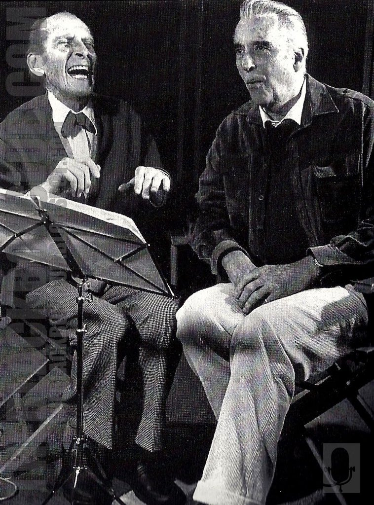 It's Peter Cushing's birthday. His long friendship with Christopher Lee began on The Curse Of Frankenstein when Lee stormed into Cushing's dressing room saying 'I haven't got any lines!' & Cushing replied 'You're lucky. I've read the script.'