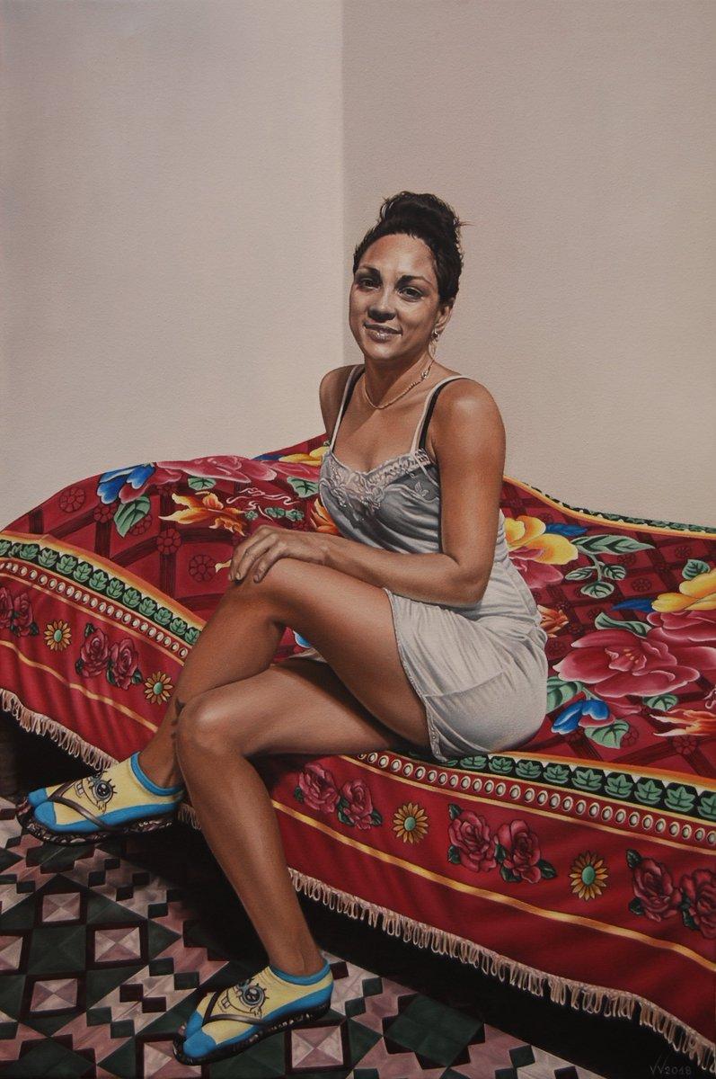 pretty latina woman