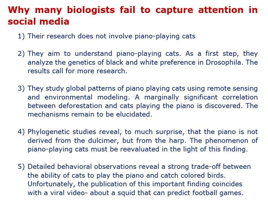 The Science Of Attention How To Capture >> Matthias Erb On Twitter Why Many Biologists Fail To Capture
