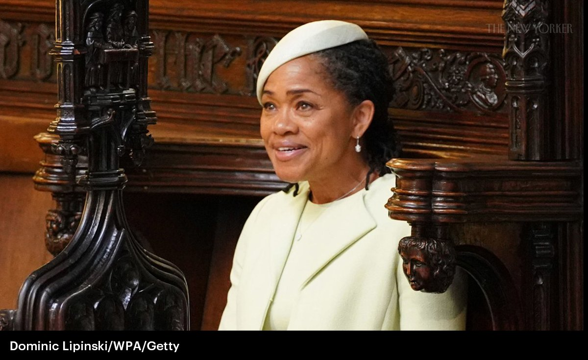 In front of billions, Meghan Markle entered one of the oldest halls of whiteness, with the flowers of former colonies sewn on to  her veil, and blended in. Her mother stood out:  https://t.co/7fugFZFd31