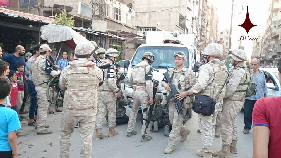 Задержание мародеров в Дамаске
