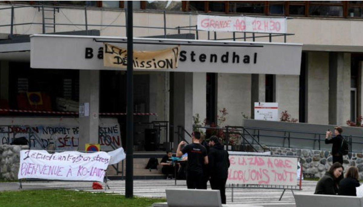 Blocages : plus d'un million d'euros de dégâts à l'université de Grenoble https://t.co/z0lA6jPpXF