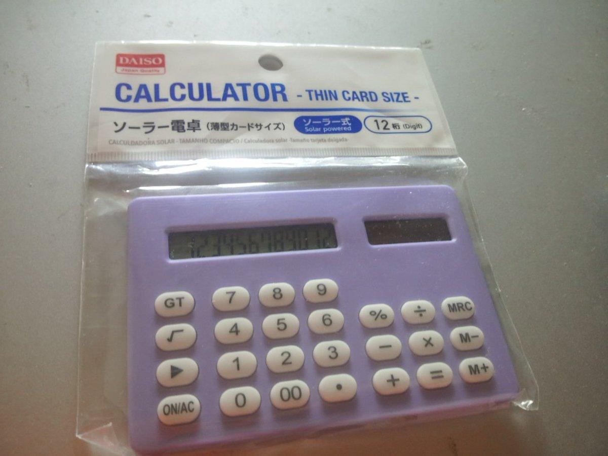 test ツイッターメディア - #ダイソー ソーラー電卓。12桁。以前、ビジネス電卓として売られていた電卓。この手の電卓は12桁以上入れるとオーバーフローエラーになる。 #daiso https://t.co/VwHYKYqOEB