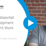 If you're familiar with waterfall, then you know that this entails months of requirements gathering & design before a team can begin working on code. Today's #Mendix Minute features @nicolasmford who addresses why waterfall development doesn't work. https://t.co/kv3pBioiS3