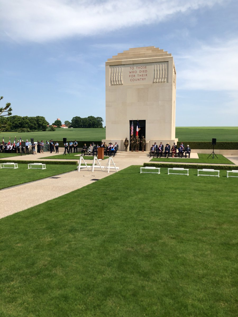 The Somme American Cemetery Memorial Day ceremony and recognition of the WWI Centennial. Participating are members of the 1st Infantry Division whose Soldiers killed in Cantigny and officials from the surrounding communities. #Armyhistory #WWI100 #100YearsofVictory #HonorThem<br>http://pic.twitter.com/UvpyQBvyp8