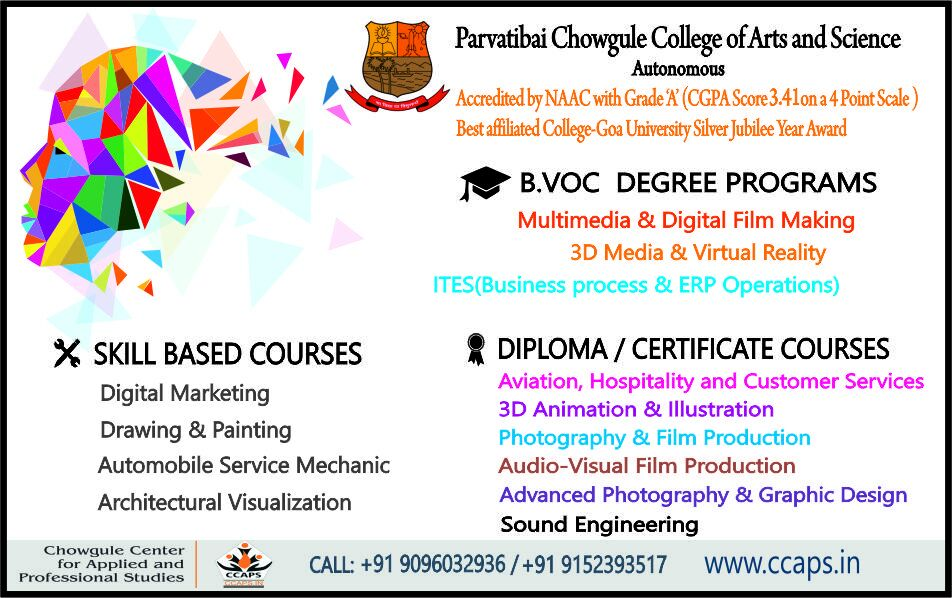 "ccaps goa on twitter: ""admissions open to various degree, diploma"