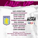 Team news: Our @SkyBetChamp #PlayOffFinal starting XI and subs.   Do us proud, lads!  #ItsTimeToRoar #AVFC