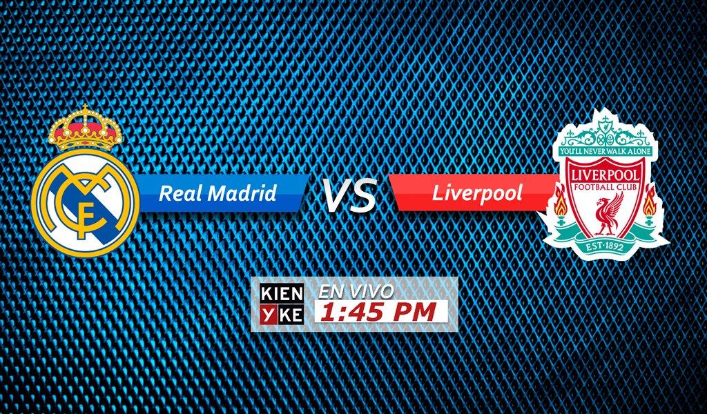 #EnVivo | Siga aquí todos los detalles y las emociones del encuentro entre Real Madrid y Liverpool, por la final de la Champions League, desde la 1:45 p.m. https://t.co/xktd4a6BJ0  ¿Quién será el campeón?  🔁 Real Madrid ♥ Liverpool